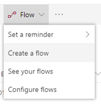Create a Flow action