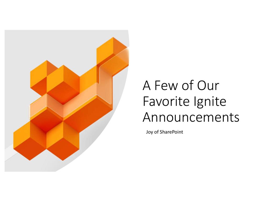 Ignite announcements