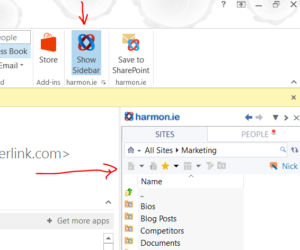 harmon.ie outlook