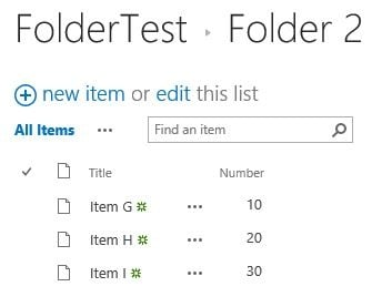 SharePoint REST API and Lists with Folders