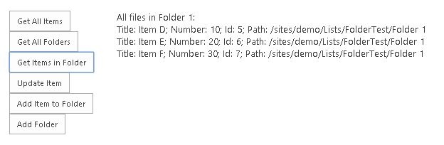 SharePoint REST API and Lists with Folders