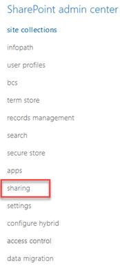 External Sharing in SharePoint Online