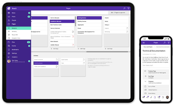 LiveTiles Reach – Mobile first delivery of policies and procedures to firstline workers