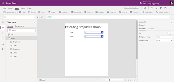 PowerApps Label creation