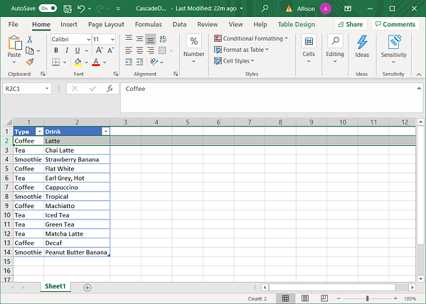 Connecting to Excel